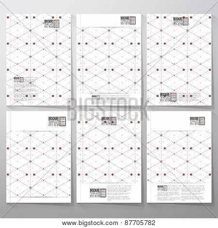 Dotted pattern with rhombus and nodes. Brochure, flyer or booklet for business, tamplate vector