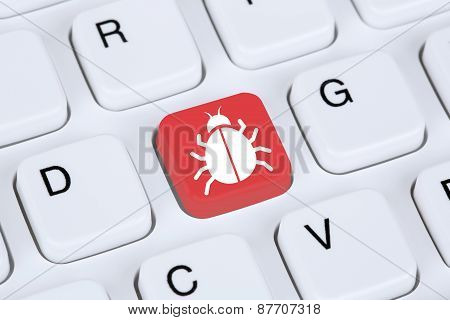 Computer Virus Or Trojan Network Security On The Internet