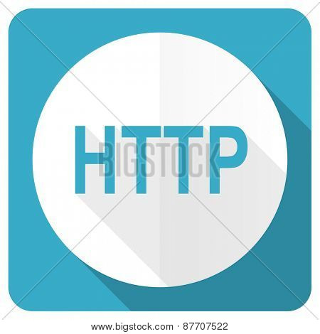 http blue flat icon