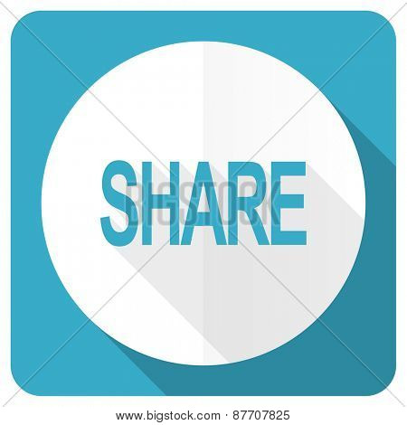 share blue flat icon