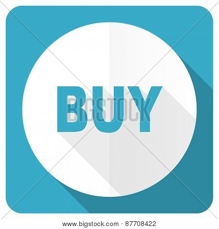 buy blue flat icon