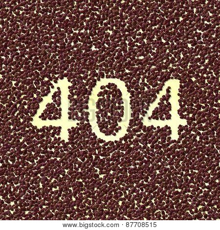 coffee spilled on the desktop and it is a sign 404