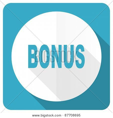 bonus blue flat icon