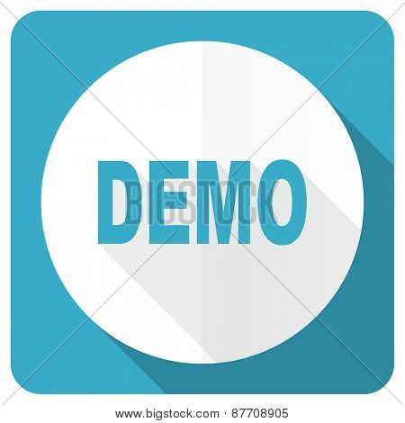 demo blue flat icon