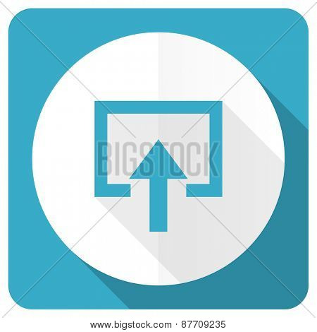 enter blue flat icon
