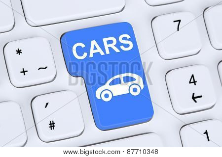 Selling Or Buying A Car Online Button On The Computer