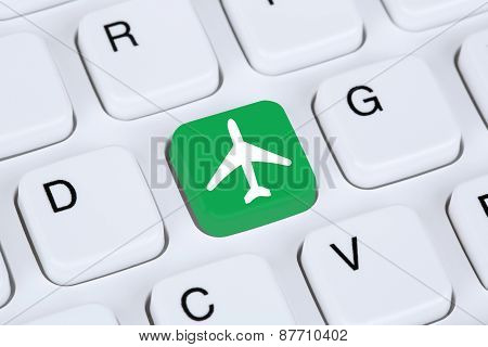 Booking Flight And Holidays Online Shopping E-commerce Internet Travel Shop