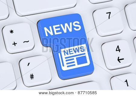 Online Newspaper News On Computer