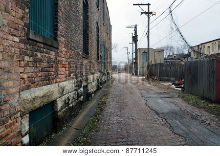 An alley in Joliet, Illinois
