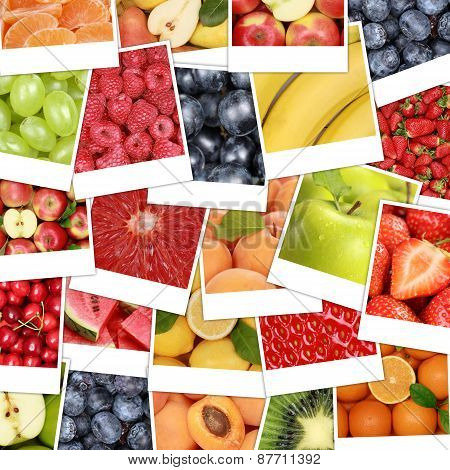 Food Fruits Background With Apple Fruit, Oranges, Lemons