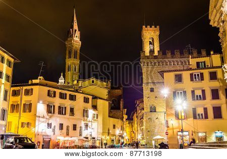 Badia Fiorentina And Bargello In Florence - Italy
