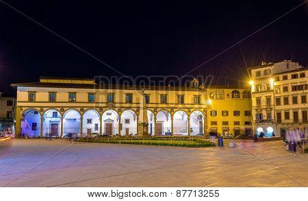 Piazza Santa Maria Novella In Florence - Italy