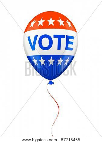 American VOTE balloon isolated on white background