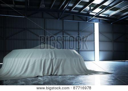 U.F.O covered inside a top secret hanger.