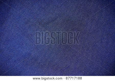 Part Synthetic Clothes Blue Purple. Macro