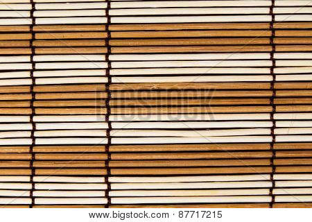 Part Of The Surface A Bamboo Mat. Macro