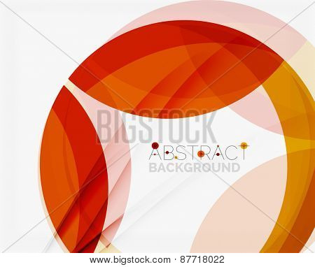 Red abstract shapes background for your message. Vector