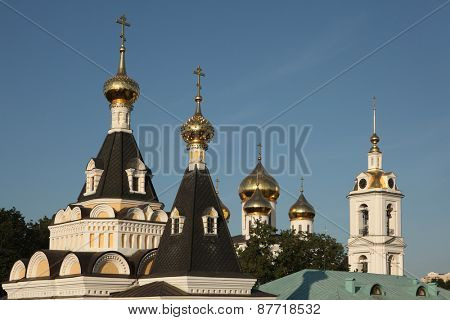 Dormition Cathedral in the Dmitrov Kremlin in Dmitrov near Moscow, Russia.