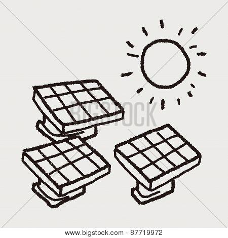 Environmental Protection Concept; Solar Energy; Saving Energy; Doodle