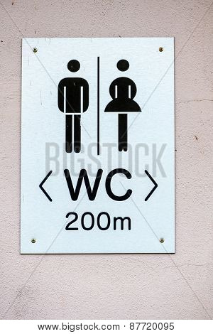 sign restrooms man woman icon for plumbing, gender segregation, hygiene,