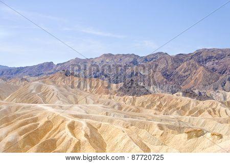 Zabriskie Point In Death Valley