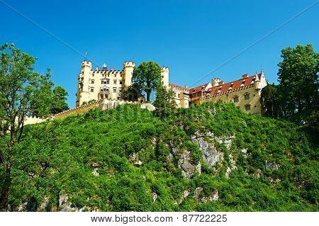 The castle of Hohenschwangau in Bavaria, Germany.