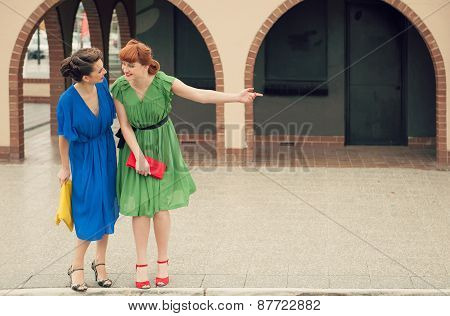 Urban Scene With Young Women