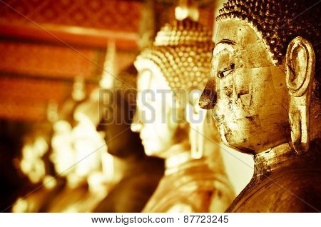 Buddha in Wat Suthat temple at Thailand