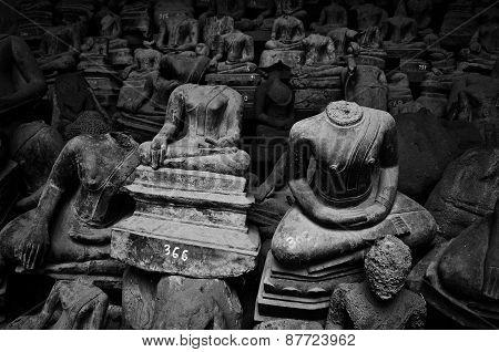 Buddha in Wat Si saket temple at sisaket vientiane