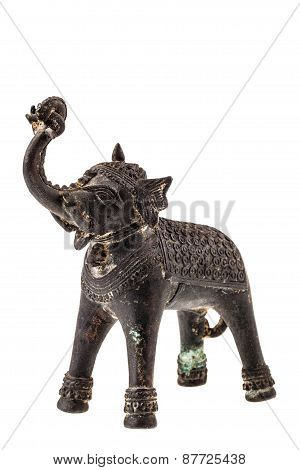 Bronze Indian Elephant Figurine