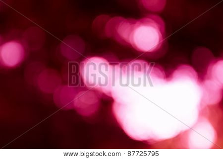 Natural Outdoors Bokeh Light Background, Pink Tone In Hilight And Red Tone In Shadow