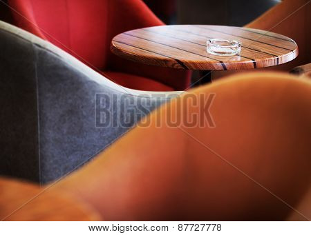 Abstract image of a cafe table