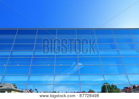 Perm, Russia - Jan 6, 2013: Wall Of Modern Building Wonderhall - Large Entertainment And Business Ce