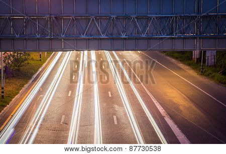 On The Night Propelled Light Trails