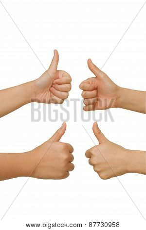 Hands Making Thumbs Up Gesture