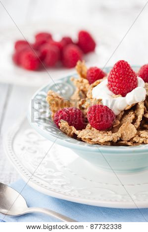 Healthy Breakfast With Fresh Berries