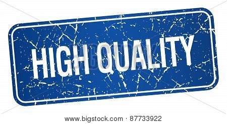 High Quality Blue Square Grunge Textured Isolated Stamp