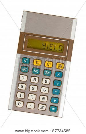 Old Calculator - Yield