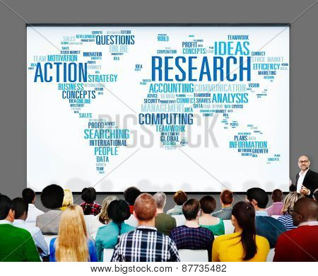 Research Data Facts Information Solutions Exploration Concept
