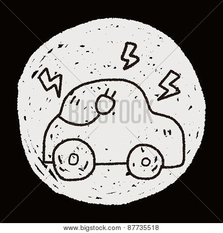 Environmental Protection Concept; Reduce The Use Of Gasoline, Reduce Air Pollution; Electric Car; Do