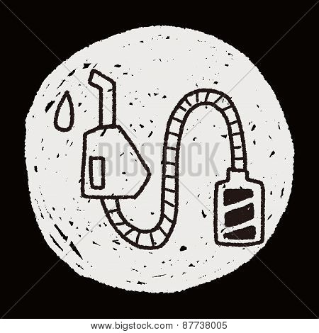 Environmental Protection Concept; Reduce The Use Of Gasoline, Reduce Air Pollution; Doodle