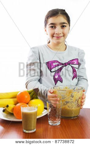 Young Girl With Mixer