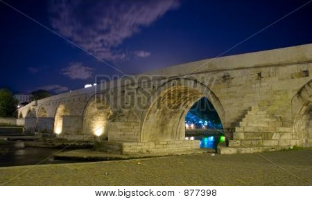 Famous Stone Bridge In Skopje