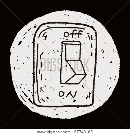 Environmental Protection Concept; Saving Energy, Turning Off Lights; Doodle