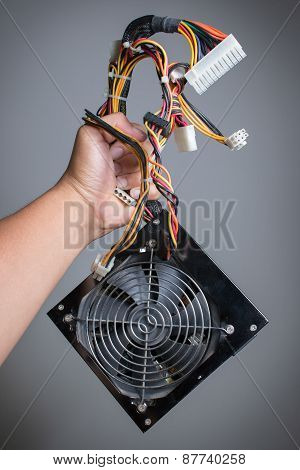 Computer Power Supply With Hand Hold.