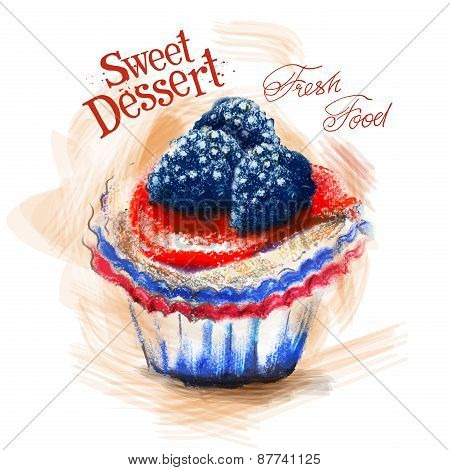 dessert vector logo design template. cake or fresh food icon.