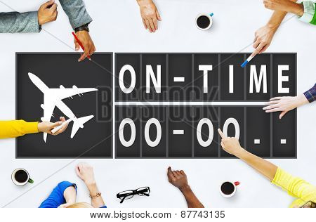 On Time Punctual Efficiency Organization Management Concept