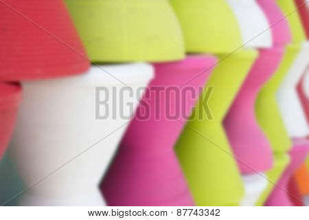 Blurry Defocused Colorful Plastic Stool For Background