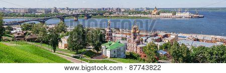 Panoramic Cityscape Of Nizhny Novgorod.