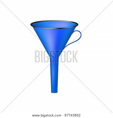 Funnel in blue design